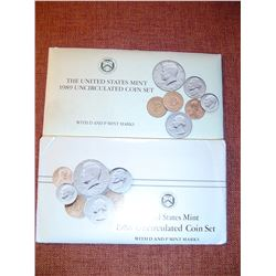 1988 + 89 US uncirculated coin sets both P+D mints