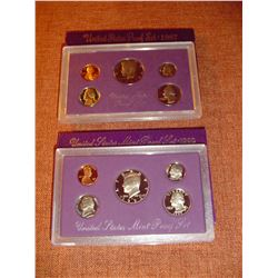 1987 and 1992 US proof sets