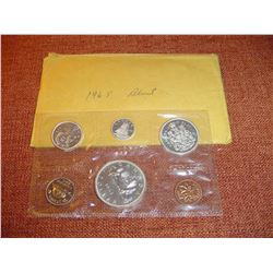 1965 blunt uncirculated canadian coin set