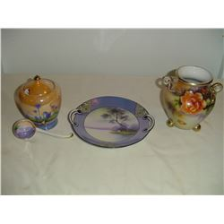 3 hand painted pieces Noritake