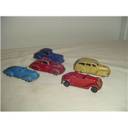 5 1940'3 tootsie toy metal cars
