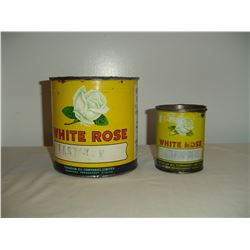 2 #White Rose grease tins 1lb and 5 lb