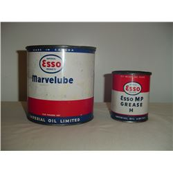 2 Esso grease tins 1lb and 5 lb