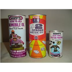 3 different Wynns  2 cycle oil tin full
