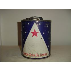 1 gallon round North Star oil tin