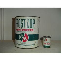 2 BA anti-freeze tins coolant and gas