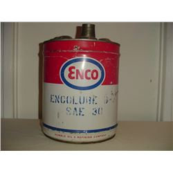 5 gallon Enco oil pail ( humble oil )
