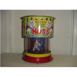 circus country store motion hot nut advertising display machine