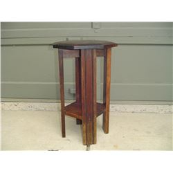 small wood plant table