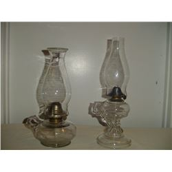 #1 and #2 finger hold coal-oil lamps