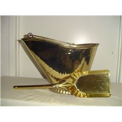 brass coal pail and shovel