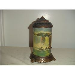 1940's cast and brass niagra falls motion lamp working condition