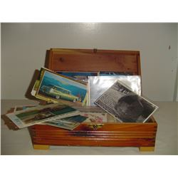 collection old post cards and advertising booklets etc.
