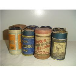 8 edison cylinder records