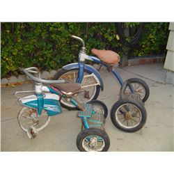 2 ,1950's tricycles to restore