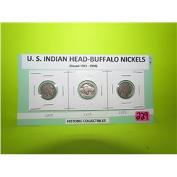 U.S Indian Head - Buffalo 5 cents (1927,1928,1929- one of the most popular U.S. Coins