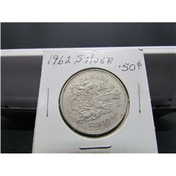 1962 Canadian Silver 50 cents