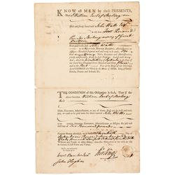 1763 William Alexander, Lord Stirling Signed £4,000 Finance Bond to John Watts!