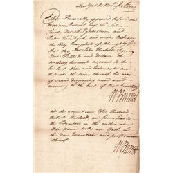 Handsome 1724 Colonial New York Governor WILLIAM BURNET Signed Twice  Document