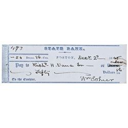 1848 RICHARD HENRY DANA JR. Personal Endorsed Check