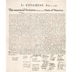 DECLARATION OF INDEPENDENCE Original 1843 Peter Force American Archives Printing