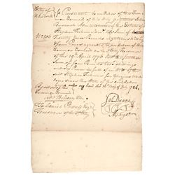 1784 Autograph Document Signed JAMES DUANE as Mayor of New York