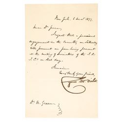 CYRUS W. FIELD, First Atlantic Telegraph Cable Founder Signed Letter