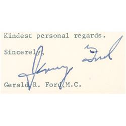 "Gerald Ford Signed Letter, 1967 ""Jerry Ford"" as Congressman"