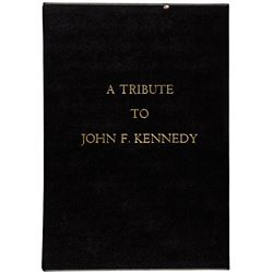 c. 1964, Inscribed Commemorative Book entitled, A Tribute to John F. Kennedy