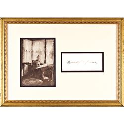 Outstanding ANNA MARY (GRANDMA) MOSES, Framed Signature