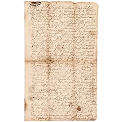1739 Colonial Kittery, County of York, Province of Massachusetts Bay Land Deed