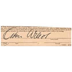 Cut Authentic Signature of Actor ORSON WELLES