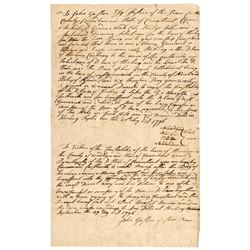 1796-Dated Post Revolutionary War Era, Manuscript Document Signed