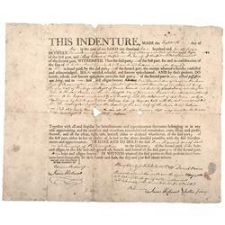1797 Connecticut Susquehannah Company Land Grant In Pennsylvania