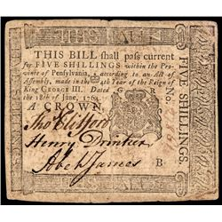 Colonial Currency, Nice BENJAMIN FRANKLIN Printed 1764 Note PCGS Very Fine-20