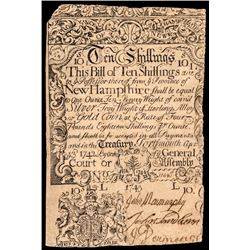 Colonial Currency, Unique New Hampshire April 3, 1742 redated 1743 / Feb. 1744