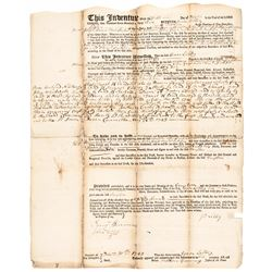 December 1, 1743 New Hampshire Currency Issue Act Related Mortgage Loan Document
