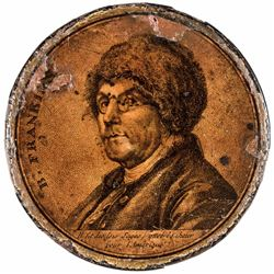 c. 1790 Benjamin Franklin In His Beaver Fur Hat Portrait Snuff Box