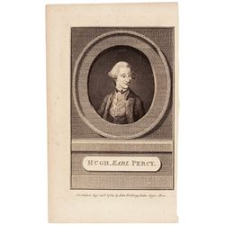 September 30, 1785-Dated Engraved Portrait of British Earl, Percy,  Historic Revolutionary War Era M