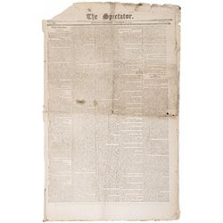 1799-Dated, Newspaper THE SPECTATOR New York, NY