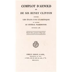 1816 Book titled: Conspiracy of Arnold and Sir Henry Clinton Against the U.S...