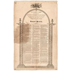 "1800-Dated, Unique Paper Broadside Memorial Poem, Printed by ""R. AITKEN"