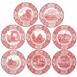Set of Eight George Washington Bicentenary Memorial Plates