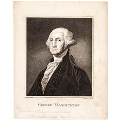 (1821) George Washington Engraving by Christian Gobrecht After B. Trott Drawing