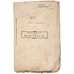 1791-Dated New Hampshire Journal of Proceedings Official Imprint