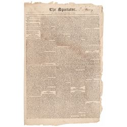 October 26, 1803, The Louisiana Purchase Reported in The Spectator Newspaper