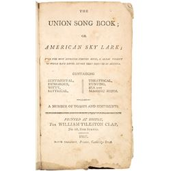 Rare Early American Song Book, 1805