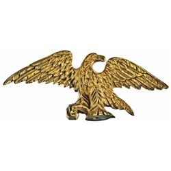 Federal Period Decorative American Eagle In Brass