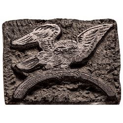 c. 1810 Wooden Eagle Print Block