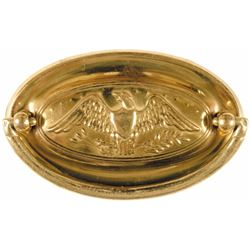 1800s Set of Brass Heraldic American Eagle Drawer Pulls